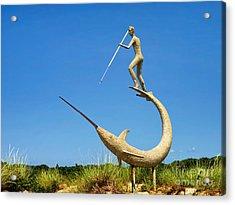 The Swordfish Harpooner Acrylic Print by Mark Miller