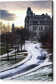The Syracuse University Hall Of Languages Acrylic Print by Debra Millet
