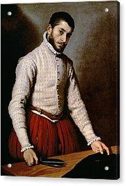 The Tailor Acrylic Print by Giovanni Battista Moroni