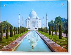 The Taj Mahal Of India Acrylic Print