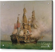 The Taking Of The Kent Acrylic Print by Ambroise Louis Garneray