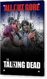 Acrylic Print featuring the digital art The Talking Dead by John Haldane