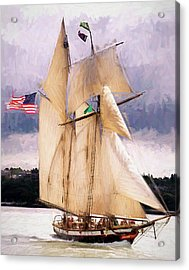 The Tall Ship The Lynx, Fine Art Print Acrylic Print by Greg Sigrist