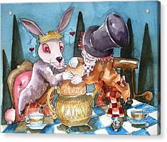 The Tea Party Acrylic Print by Lucia Stewart