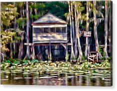 The Tea Room Acrylic Print by Lana Trussell