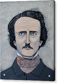 Acrylic Print featuring the painting The Telltale Heart Of Edgar Allen Poe. by Ken Zabel