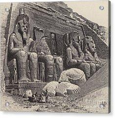 The Temple Of Abu Simbel Acrylic Print by English School