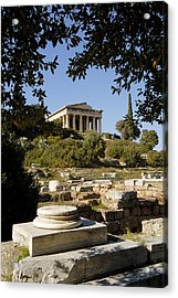 The Temple Of Hephaestus In Athens 01 Acrylic Print