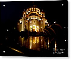 Acrylic Print featuring the photograph The Temple Of Saint Sava In Belgrade  by Danica Radman