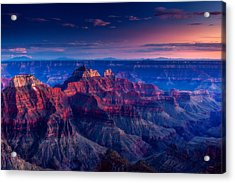 The Temples And Bright Angel Canyon Acrylic Print