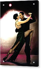 The Temptation Of Tango Acrylic Print by Richard Young