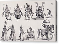 The Ten Avatars Or Incarnations Of Vishnu Acrylic Print