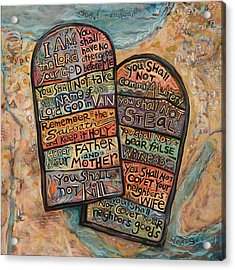 The Ten Commandments Acrylic Print by Jen Norton