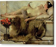 The Tepidarium Acrylic Print by Sir Lawrence Alma-Tadema