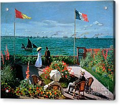 The Terrace At Sainte Adresse Acrylic Print