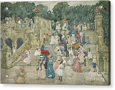 The Terrace Bridge, Central Park Acrylic Print by Maurice Brazil Prendergast