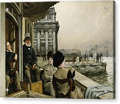The Terrace Of The Trafalgar Tavern Greenwich Acrylic Print by James Jacques Joseph Tissot