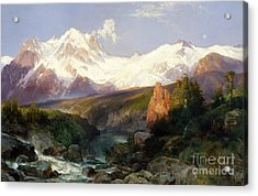 The Teton Range, 1897 Acrylic Print by Thomas Moran