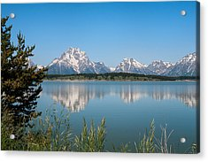 The Tetons On Jackson Lake - Grand Teton National Park Wyoming Acrylic Print