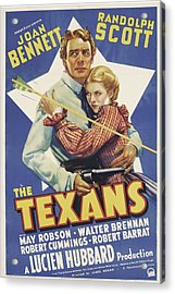 The Texans, Randolph Scott, Joan Acrylic Print by Everett