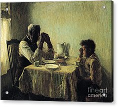 Acrylic Print featuring the painting The Thankful Poor by Henry Ossawa Tanner