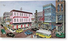 The Theater District Portsmouth Ohio 1948 Acrylic Print