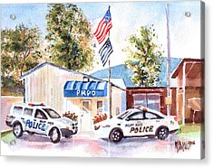 Acrylic Print featuring the painting The Thin Blue Line by Kip DeVore