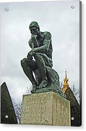 The Thinker By Rodin Acrylic Print by Al Bourassa