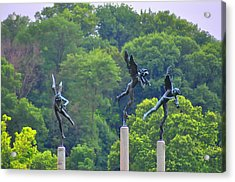 The Three Angels Acrylic Print by Bill Cannon