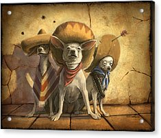 The Three Banditos Acrylic Print by Sean ODaniels