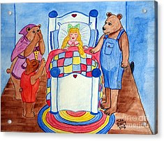The Three Bears And Goldilocks Acrylic Print by Julie Brugh Riffey