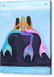 Acrylic Print featuring the painting The Three Beauties by Leslie Allen