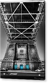 The Three Blue Doors Acrylic Print by Marvin Spates