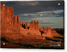 The Three Gossips And Sheeprock Acrylic Print