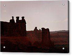 The Three Gossips Arches National Park Utah Acrylic Print by Christine Till