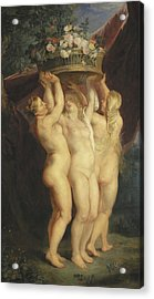 The Three Graces Acrylic Print by Rubens