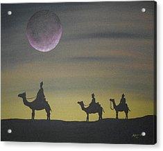 The Three Kings Acrylic Print by Edwin Alverio