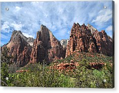 Acrylic Print featuring the photograph The Three Patriarchs by Barbara Manis