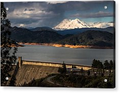 The Three Shasta's Acrylic Print