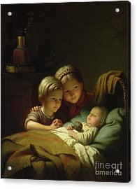 The Three Sisters Acrylic Print by Johann Georg