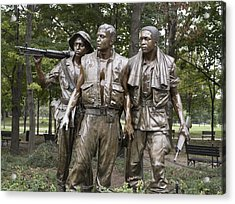 The Three Soldiers By Frederick Hart Acrylic Print by Everett