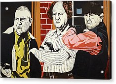 Acrylic Print featuring the painting The Three Stooges by Thomas Blood