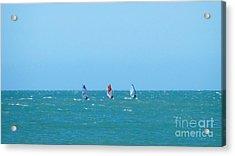 The Three Surfers Acrylic Print