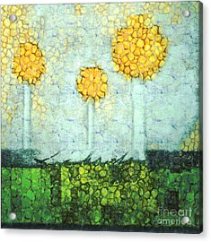 The Three Trees - Y2901b Acrylic Print by Variance Collections