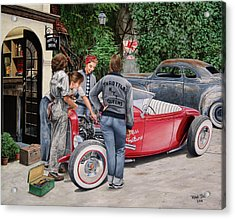 The Throttle Queens Acrylic Print by Ruben Duran