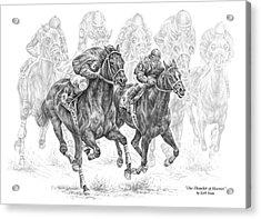 The Thunder Of Hooves - Horse Racing Print Acrylic Print by Kelli Swan