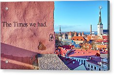 Acrylic Print featuring the photograph The Times We Had by Fabrizio Troiani