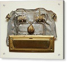 The Tin Man Says... Acrylic Print by Rick Santovec