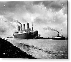 The Titanic Being Towed Acrylic Print