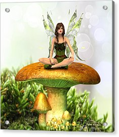 The Toadstool Fairy Acrylic Print